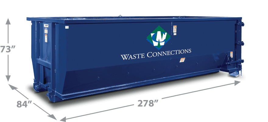 Waste Connections Roll Off Dumpster